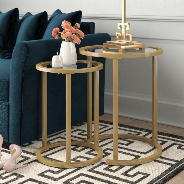 Morones Glam 2 Piece Nesting Tables In 2020 Nesting Tables Modern Side Table Living Room End Tables