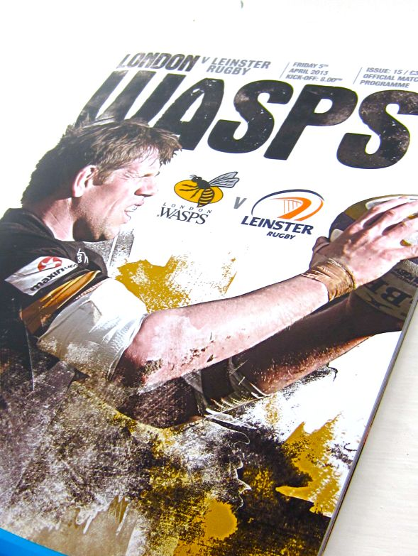London Wasps Program by Polar Creative Studio, via Behance