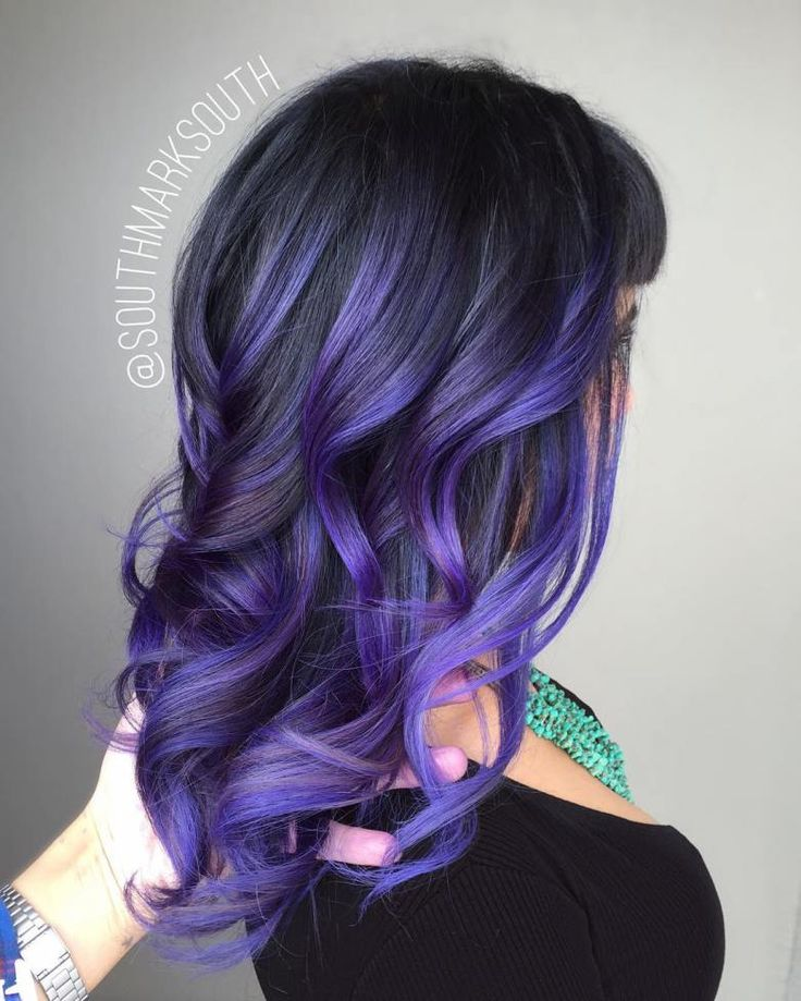 20 Ways to Wear Violet Hair. Pastel Purple Balayage
