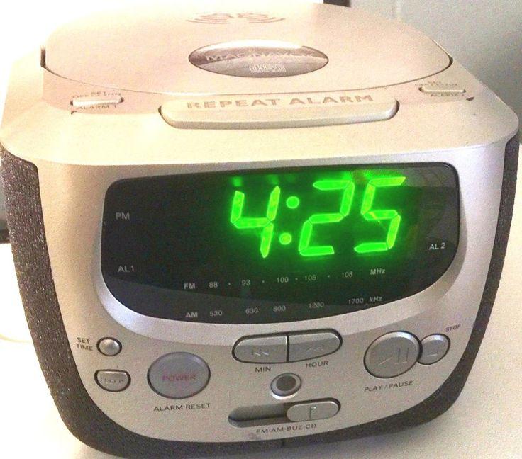 Magnavox Wide Angle Stereo CD Compact Disk Player Clock Radio MCR230SL/17 | Consumer Electronics, Gadgets & Other Electronics, Digital Clocks & Clock Radios | eBay!