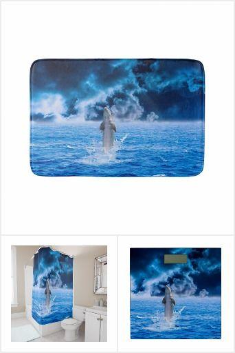 Dolphin Ocean Storm Bathroom Set
