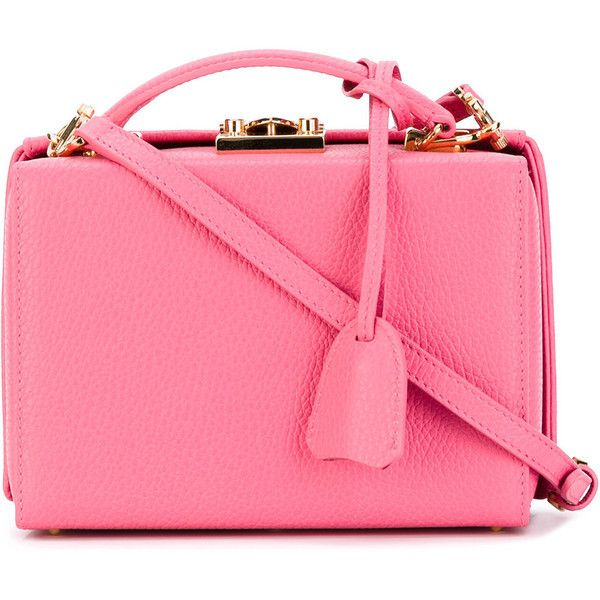 Mark Cross Small 'Grace Box' Crossbody Bag ❤ liked on Polyvore (see more shoulder tote bags)