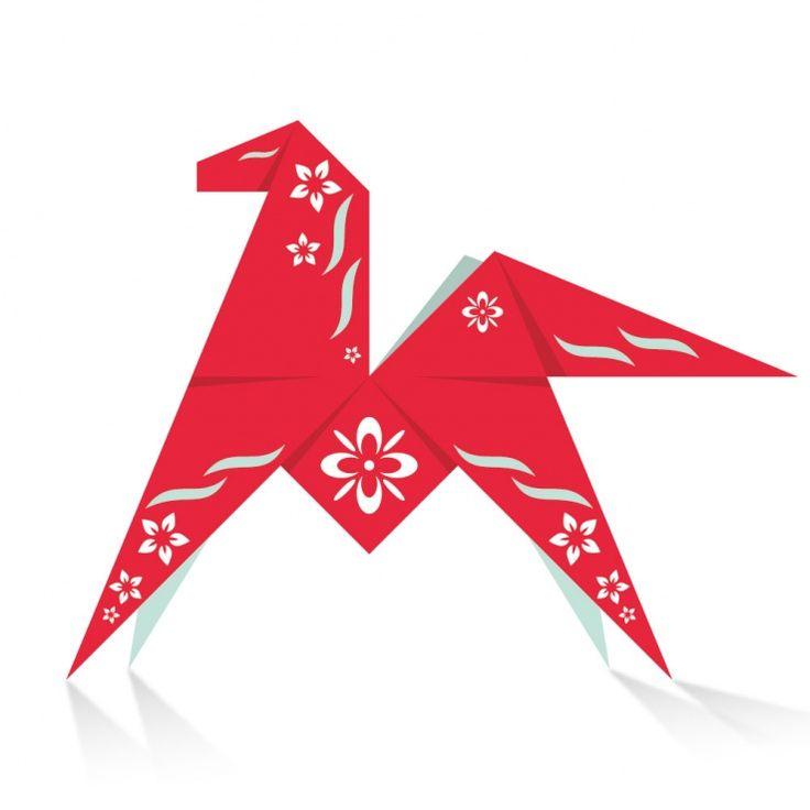 31 januari 2014 is het Jaar van het Paard aangebroken.  Volgens de Chinese horoscoop staat dit jaar in het teken van groei en vernieuwing. Het is het jaar om je dromen na te streven en je hart te volgen.  Download hier het vouwvel en maak je eigen Origami Paard!