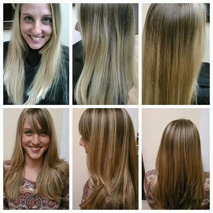 Highlighted hair before and after images hair extension hair highlights for dirty blonde hair before and after the best before and after highlights color blonde pmusecretfo Image collections