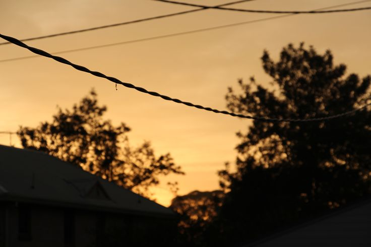 L1M1AP2: Sunrise - ISO100, 1/250, F5.0, Handheld, Auto. Taken from front of house. Main focus is on the power line.  Canon EOS 700D EFS 18-135MM.