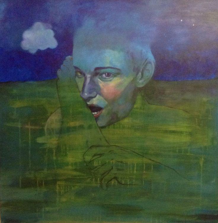 #Star Guest#acrylic,alkyd on canvas#100X100#rithva