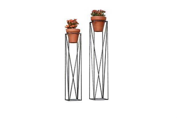 Griferia Para Baño Blaisten:15 diseños en hierro para tu casa Porta maceta de hierro color