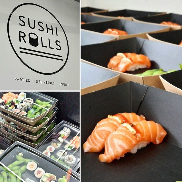 Loads of #sushi being prepped for a lunchtime delivery to Cisco in London #food #sushitime #london #catering  Sushirolls.co.uk