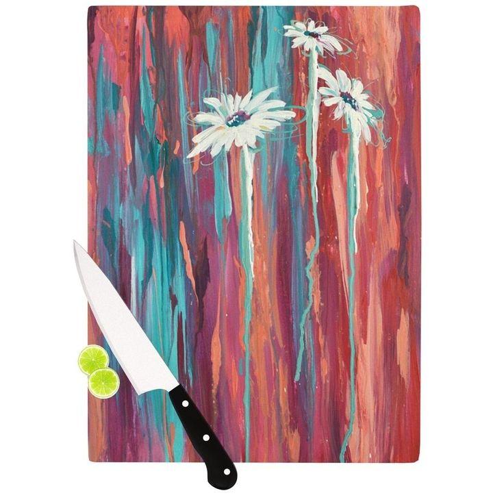 Kess InHouse Brienne Jepkema 'Whole' Teal Orange Cutting Board