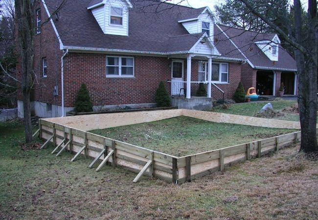 Backyard Ice Rink - Frame