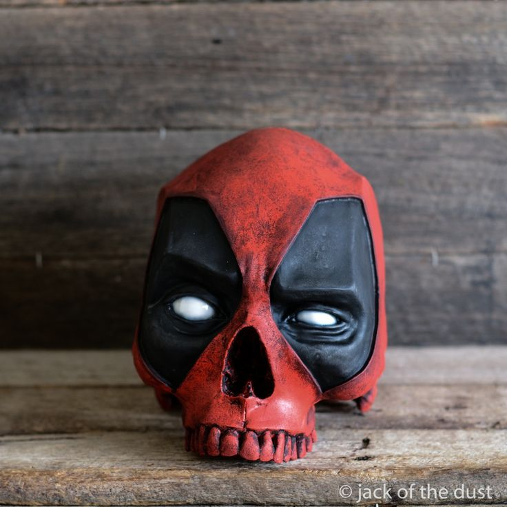 Image of DEADPOOL SKULL <br> Australian dollars