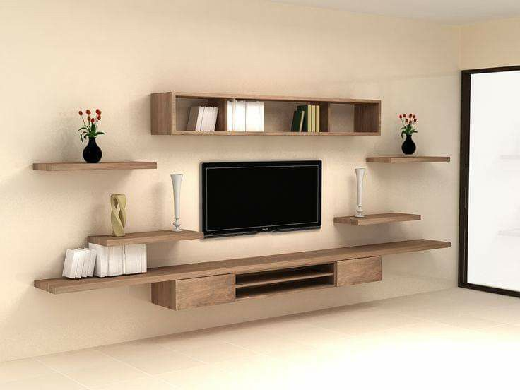 Wall Mounted Tv Unit With Shelves