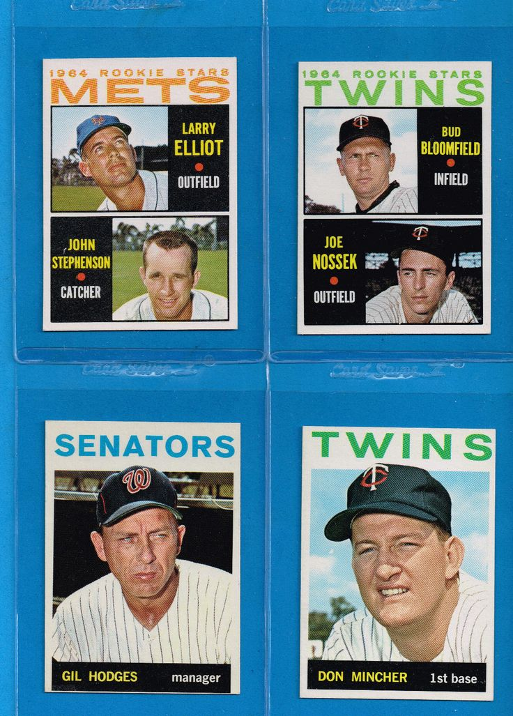 1964 TOPPS HIGH #523-587 NM MINT KELLEY HOBBIE PODRES HODGES METS TWINS RC SHARP