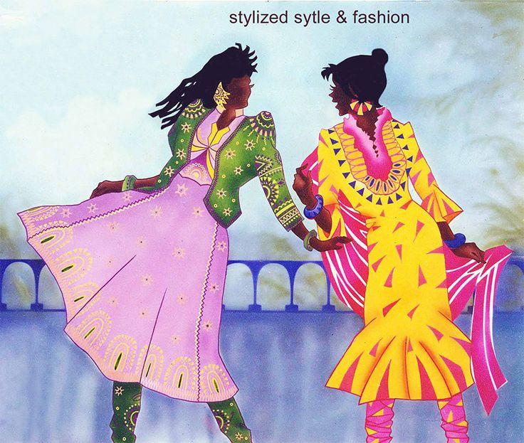 Illutrator: Smita Upadhye A stylized design for ladies boutique.