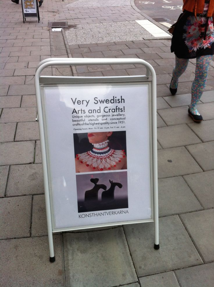 Very Swedish Arts and Crafts! Outside the shop and gallery Konsthantverkarna in 2013.