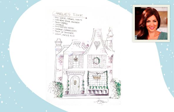 """Jillian Harris, who charmed audiences with her irrepressible humor and emotional honesty on ABC's """"The Bachelor"""" and """"The Bachelorette"""", is our second designer on board. Take a look at her design for our gingerbread house!  #cafdn"""