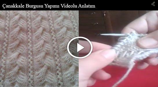 Gelin Kız Yeleği İçin Çanakkale Burgusu Yapımı Videolu Anlatım