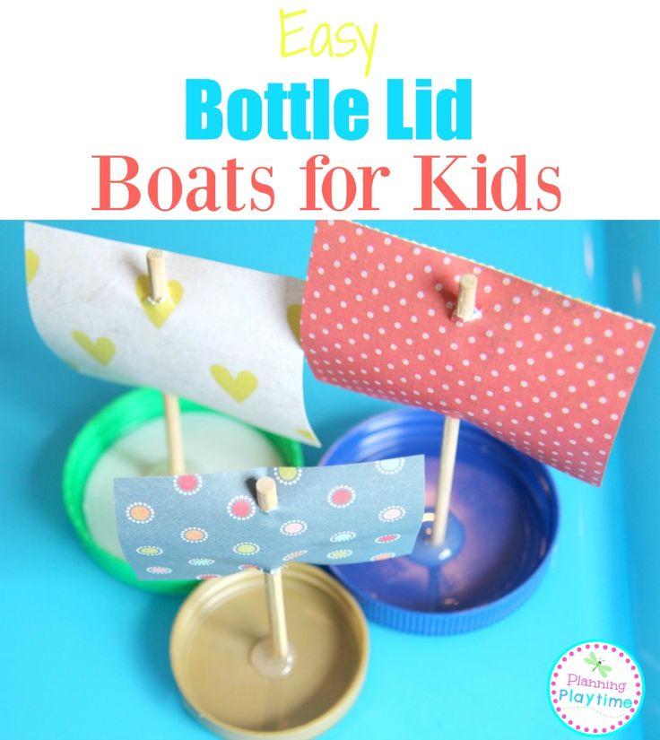 Easy Bottle Lid Boats for Kids. - Planning Playtime