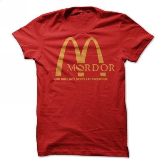 McMordor - Hobbit Parody T Shirt - #bridesmaid gift #fathers gift. MORE INFO => https://www.sunfrog.com/Movies/mordor-mcdonalds-shirt-parody.html?60505