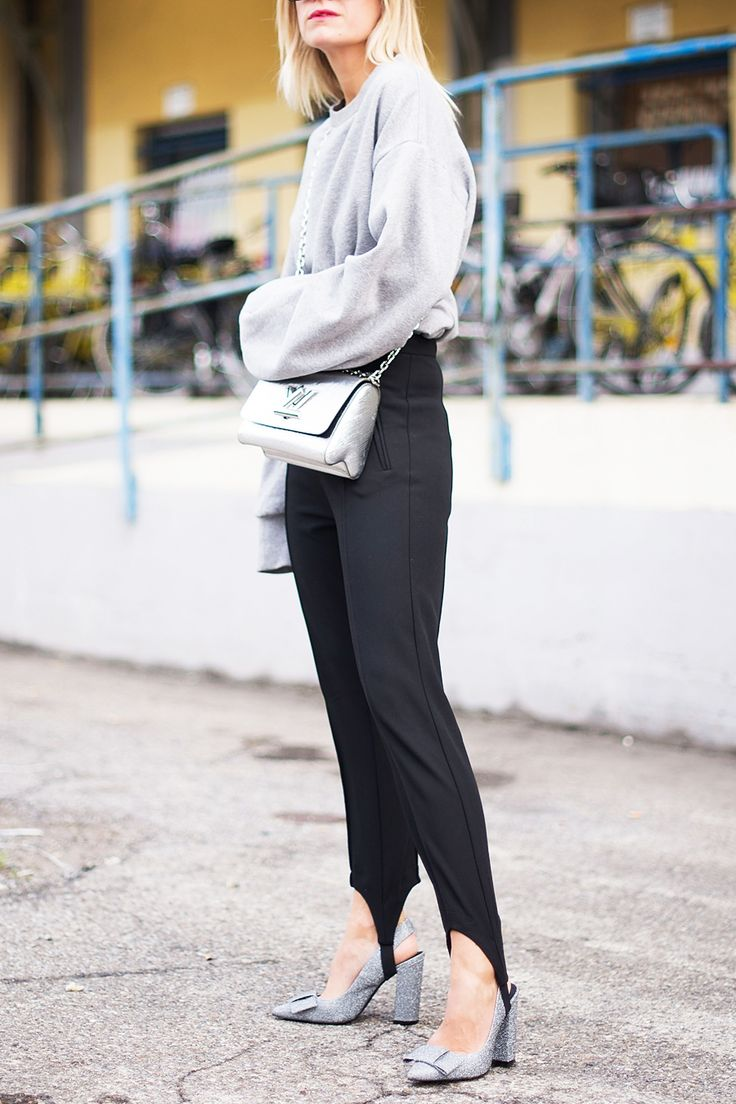 What We're Buying After Obsessively Studying Fashion Month's Street-Style Looks - Stirrup Pants from InStyle.com