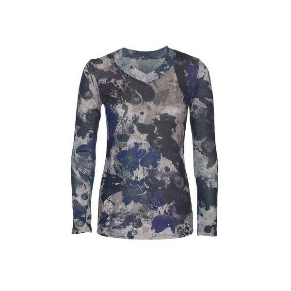 Women's Ojai Clothing Travel Classic V-Neck ($64) ❤ liked on Polyvore featuring tops, long sleeve shirts, camo shirts, camouflage shirts, camouflage long sleeve shirts, long sleeve v neck shirt and grey shirt