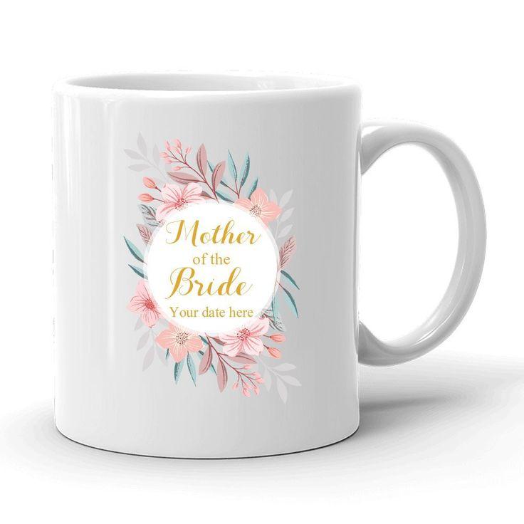 Amazon.com: Personalized Mother of the Bride Mug, Mother's Day Gift, 11 OZ White Ceramic Mug, Gift for Mom, Wedding Coffee Mug, MOB Mug, MOG, Bridal Shower Coffee Cup, Mother of The Bride Gift From Daughter: Sports & Outdoors