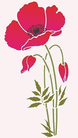 poppy stencil