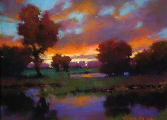 Evening Solitude by Teresa Saia Pastel ~ 18 x 24