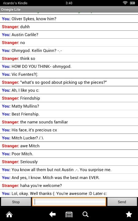 """Kellin Quinn?"" ""Think so."" -.-"