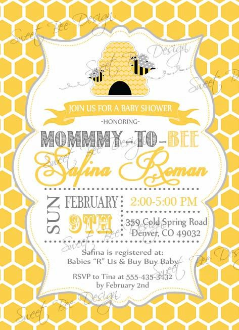 Bee Baby Shower invitation Mommy To Bee by SweetBeeDesignShoppe, $12.00