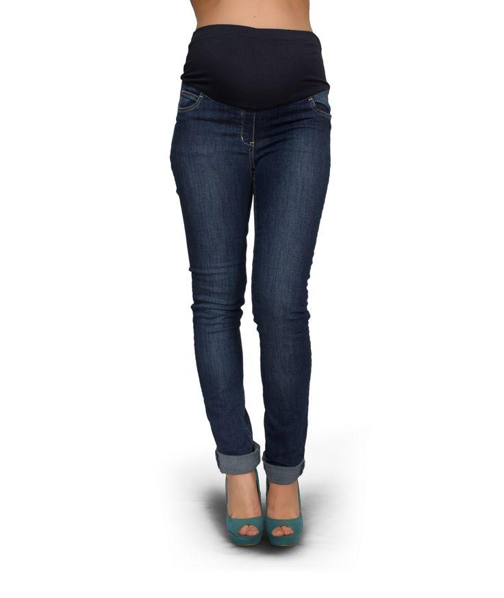 Jeans premaman skinny - PremamanOnline.com Un jeans premaman da portare per tutta la gravidanza Il taglio dritto con il risvolto al fondo e la linea aderente, fanno di questo jeans premaman un capo dallo stile ricercato ed alla moda. Indossalo per sentirti trendy ed alla moda.