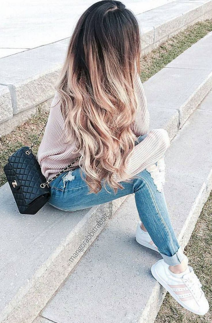 IDEA: Mix 2 shades of hair extensions to create dimension in your hair. @mangorabbitrabbit mixed 2 shades of Luxy Hair extensions: Dirty Blonde and Chestnut Brown to achieve this look. xoxo