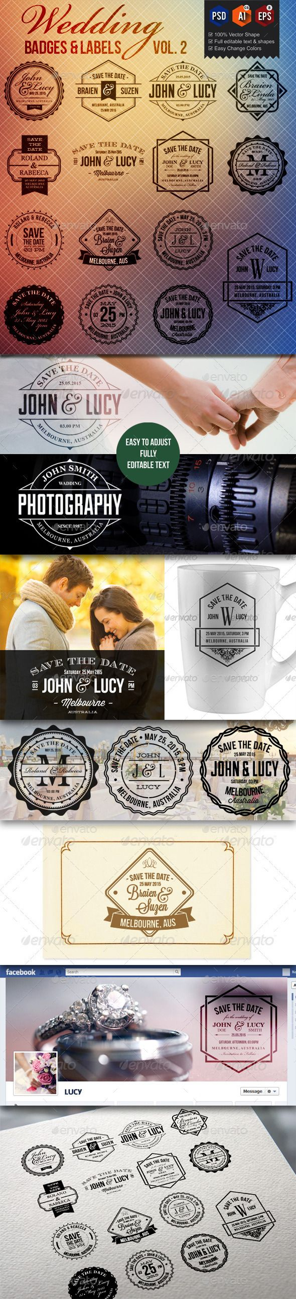 15 Wedding Badge Labels   Buy and Download: http://graphicriver.net/item/15-wedding-badge-labels-v2/9929292?ref=ksioks
