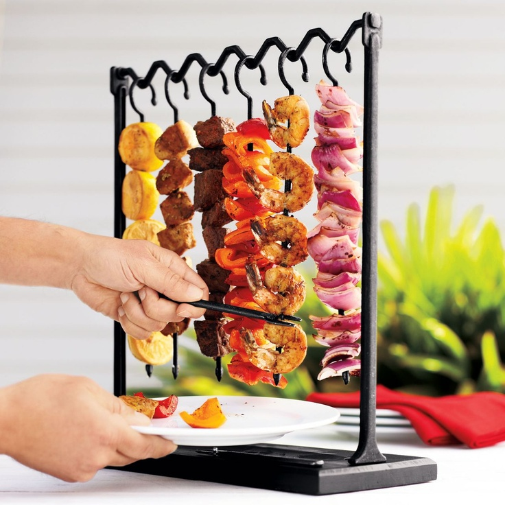 Only pick what you want skewers! But what happens when I pick all the shrimp and leave you with the peppers.