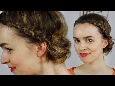 *Haare* Frühlingsfrisur - seitlicher Dutt mit Flechtwerk