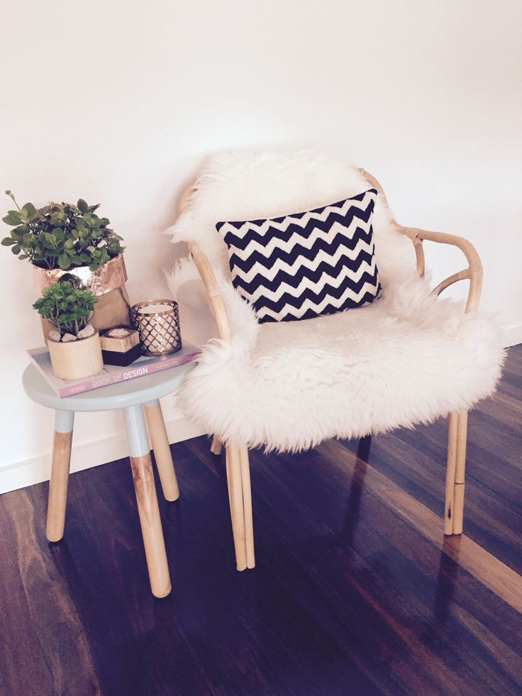 Chair & side table