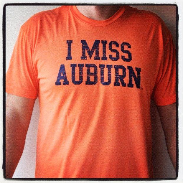 I MISS AUBURN Auburn University Tigers by IMISSMYCOLLEGE on Etsy