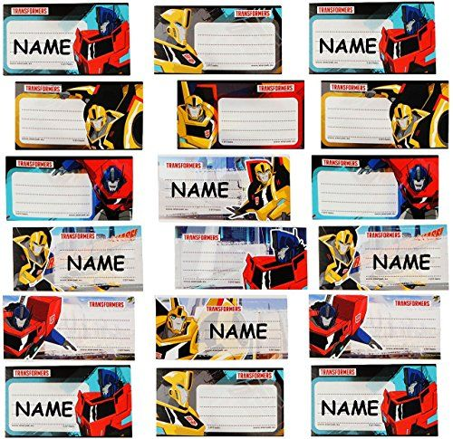 20 Stk. Sticker für Hefte - Transformers - Heftetiketten für den Namen - Etiketten Schulheft Aufkleber Heft - für Jungen - Transformer - Auto - #Namenssticker - #Namensaufkleber Schule