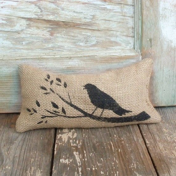 Burlap doorstop...I've been searching for a doorstop, and this is too cute to pass up!  $10