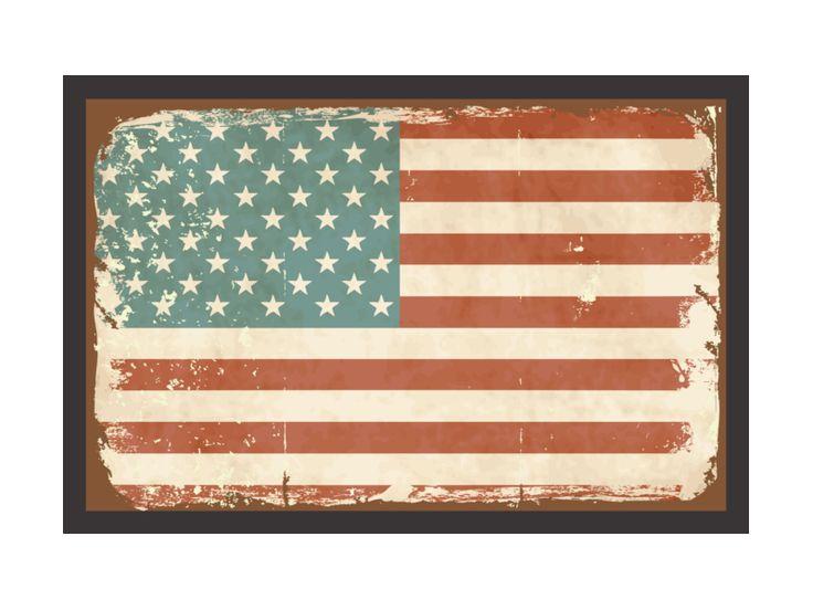 Fußmatte Türmatte FLAGGE USA 2 Amerika Dekomatte von Interluxe via dawanda.com