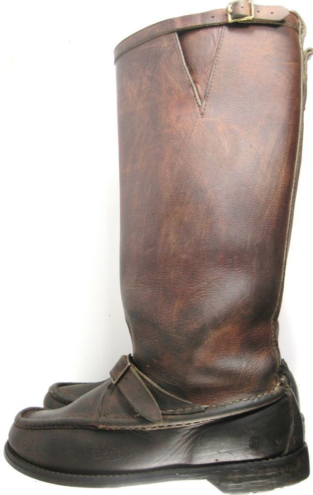 English Hunting Riding Tall Men Leather Boots Size 11M Brown Made USA. YYY 9 #Unbranded #RidingEquestrian
