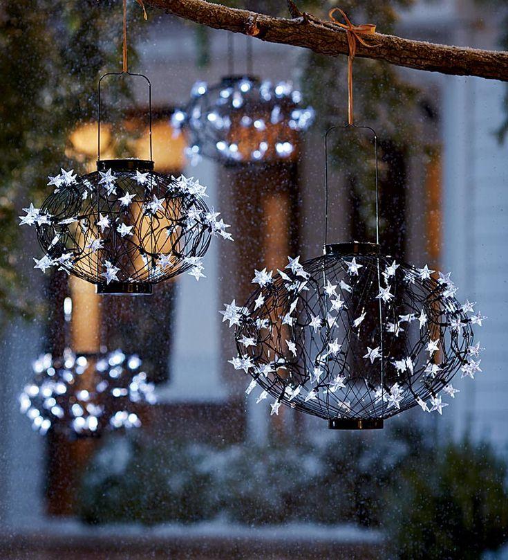 Plow u0026 Hearth Solar Lighted Christmas Balls