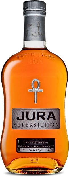 Jura Superstition: My first experience of Jura Whisky bought for me buy my brother in law for my 28th. Good flavour the peat taste isn't too strong