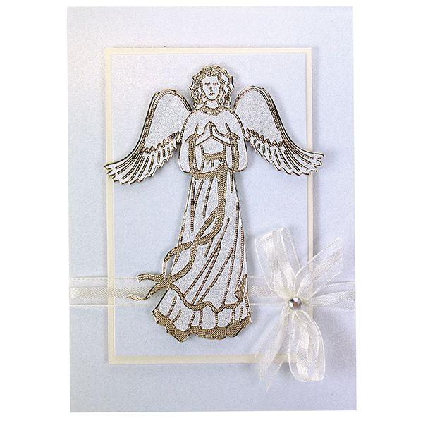 Upea enkelikortti syntyy myös ääriviivatarroilla.