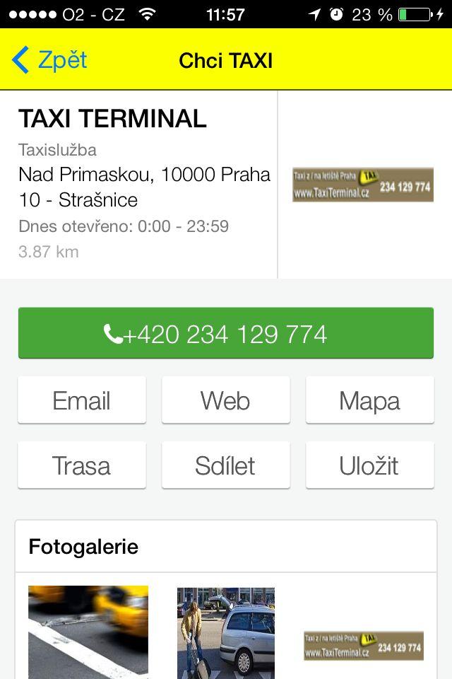 CHCI TAXI - pokud hledáte nejbližší taxi službu a chcete mít co nejjednodušší možnost jak si vybrat, pak je aplikace Chci #Taxi právě pro Vás. Aplikace sama zjistí Vaši pozici a nabídne taxi ve Vašem okolí. #Mediatelcz #UI #Smartphone #Apps
