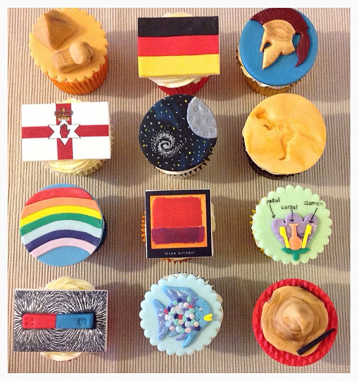 End of year school topic cupcakes (Year 3)