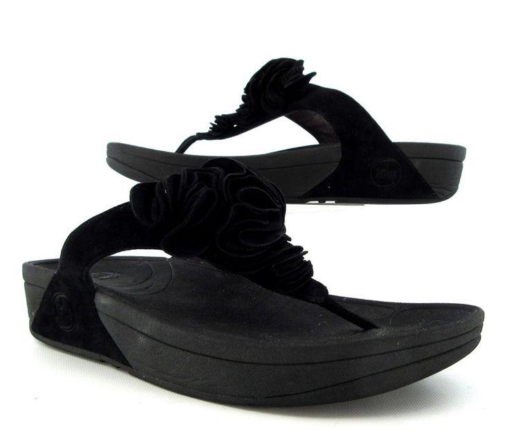 fitflop frou thong sandal black