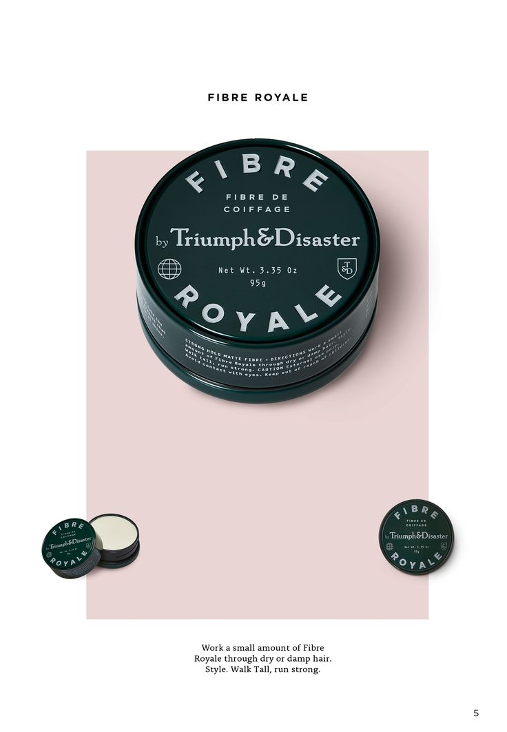 Work a small amount of Fibre Royale through dry or damp hair. Style. Walk Tall, Run Strong.