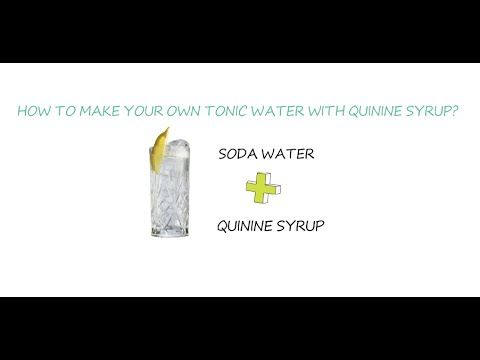 How to make your own tonic water with quinine syrup? - YouTube