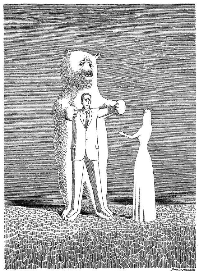 """Daniel Mróz – Ilustracja do """"Baśni dla dorosłych"""" Eugeniusza Szwarca"""
